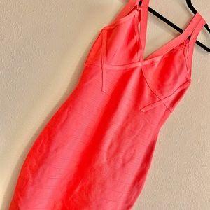 MARCIANO | Pink Olivia Strappy Bandage Mini Dress